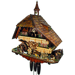 Cuckoo Clock 8-day-movement Chalet-Style 65cm by August Schwer