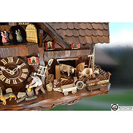 Cuckoo Clock 8-day-movement Chalet-Style 38cm by August Schwer