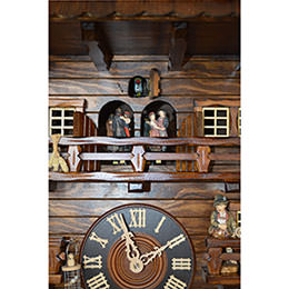 Cuckoo Clock 8-day-movement Chalet-Style 160cm by August Schwer