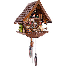 Cuckoo Clock Quartz-movement Chalet-Style 34cm by Engstler