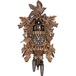 Cuckoo Clock Quartz-movement Carved-Style 45cm by Engstler