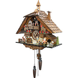 Cuckoo Clock Quartz-movement Chalet-Style 42cm by Cuckoo-Palace