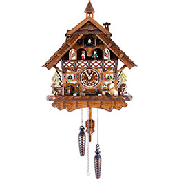 Cuckoo Clock Quartz-movement Chalet-Style 43cm by Engstler