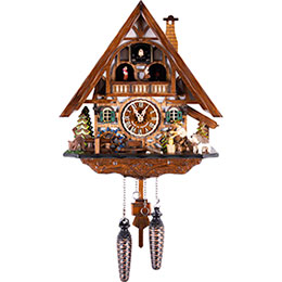 Cuckoo Clock Quartz-movement Chalet-Style 33cm by Engstler