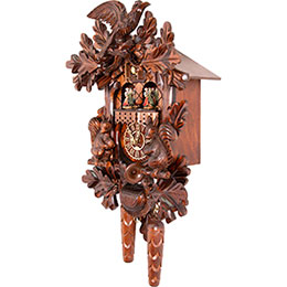 Cuckoo Clock Quartz-movement Carved-Style 44cm by Trenkle Uhren