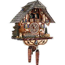 Cuckoo Clock Quartz-movement Chalet-Style 45cm by Trenkle Uhren
