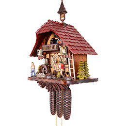 Cuckoo Clock 8-day-movement Chalet-Style 35cm by Hekas