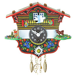 Black Forest Pendulum Clock Quartz-movement 13cm by Trenkle Uhren