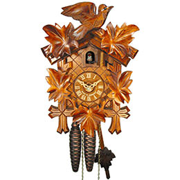 Cuckoo Clock 1-day-movement Carved-Style 24cm by August Schwer