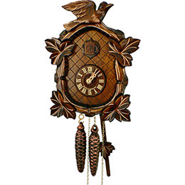 Cuckoo Clock 1-day-movement Carved-Style 26cm by Anton Schneider