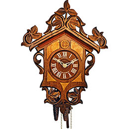 Cuckoo Clock 1-day-movement Carved-Style 27cm by Anton Schneider