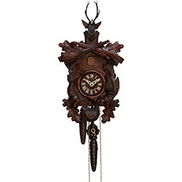 Cuckoo Clock 1-day-movement Carved-Style 29cm by Hekas