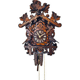 Cuckoo Clock 1-day-movement Carved-Style 32cm by Anton Schneider