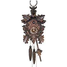 Cuckoo Clock 1-day-movement Carved-Style 36cm by Anton Schneider