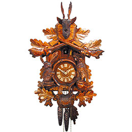 Cuckoo Clock 1-day-movement Carved-Style 46cm by August Schwer