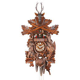 Cuckoo Clock 1-day-movement Carved-Style 48cm by Hekas
