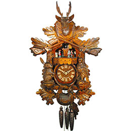 Cuckoo Clock 1-day-movement Carved-Style 49cm by August Schwer