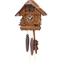 Cuckoo Clock 1-day-movement Chalet-Style 20cm by Hekas