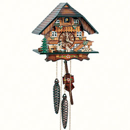 Cuckoo Clock 1-day-movement Chalet-Style 21cm by Anton Schneider