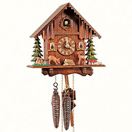 Cuckoo Clock 1-day-movement Chalet-Style 22cm by Anton Schneider