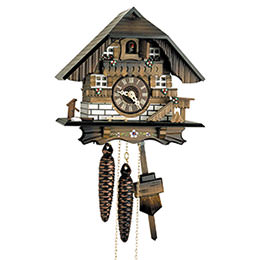 Cuckoo Clock 1-day-movement Chalet-Style 22cm by Hekas