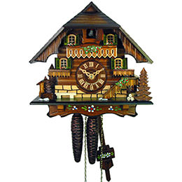 Cuckoo Clock 1-day-movement Chalet-Style 23cm by August Schwer
