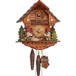 Cuckoo Clock 1-day-movement Chalet-Style 23cm by Hekas