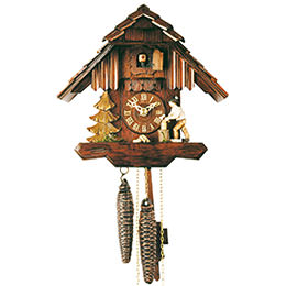 Cuckoo Clock 1-day-movement Chalet-Style 23cm by Rombach & Haas