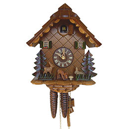 Cuckoo Clock 1-day-movement Chalet-Style 24cm by Anton Schneider