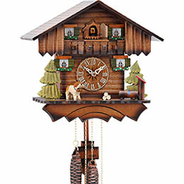 Cuckoo Clock 1-day-movement Chalet-Style 24cm by Hekas