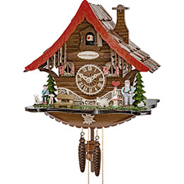 Cuckoo Clock 1-day-movement Chalet-Style 25cm by Engstler