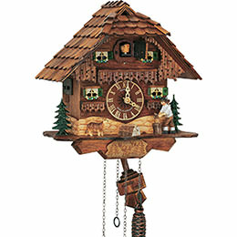 Cuckoo Clock 1-day-movement Chalet-Style 26cm by Anton Schneider