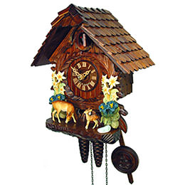 Cuckoo Clock 1-day-movement Chalet-Style 26cm by August Schwer
