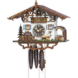 Cuckoo Clock 1-day-movement Chalet-Style 26cm by Hönes