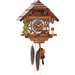 Cuckoo Clock 1-day-movement Chalet-Style 26cm by Hekas