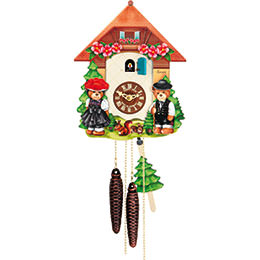 Cuckoo Clock 1-day-movement Chalet-Style 26cm by Hubert Herr