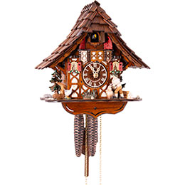Cuckoo Clock 1-day-movement Chalet-Style 27cm by Anton Schneider