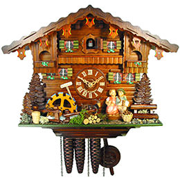 Cuckoo Clock 1-day-movement Chalet-Style 27cm by August Schwer