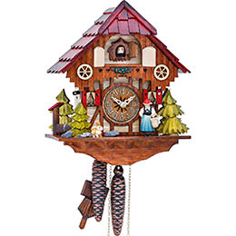 Cuckoo Clock 1-day-movement Chalet-Style 27cm by Hekas