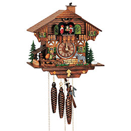 Cuckoo Clock 1-day-movement Chalet-Style 28cm by Anton Schneider