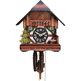 Cuckoo Clock 1-day-movement Chalet-Style 28cm by Hekas