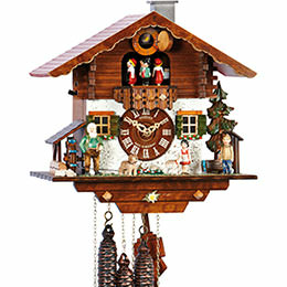 Cuckoo Clock 1-day-movement Chalet-Style 29cm by Anton Schneider