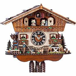 Cuckoo Clock 1-day-movement Chalet-Style 29cm by H�nes