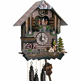 Cuckoo Clock 1-day-movement Chalet-Style 30cm by Anton Schneider