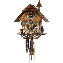 Cuckoo Clock 1-day-movement Chalet-Style 30cm by H�nes