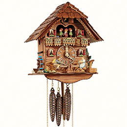 Cuckoo Clock 1-day-movement Chalet-Style 31cm by Anton Schneider