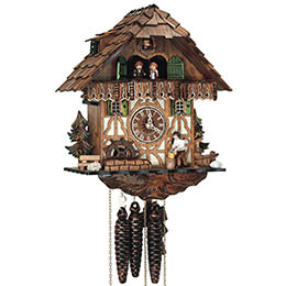 Cuckoo Clock 1-day-movement Chalet-Style 32cm by Anton Schneider