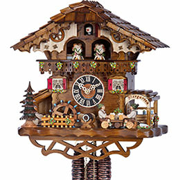 Cuckoo Clock 1-day-movement Chalet-Style 32cm by H�nes