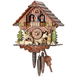 Cuckoo Clock 1-day-movement Chalet-Style 32cm by Hekas