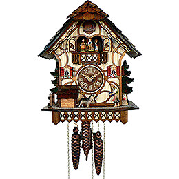 Cuckoo Clock 1-day-movement Chalet-Style 33cm by Anton Schneider